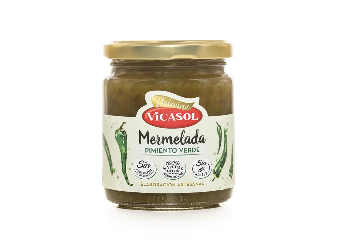 mermelada-especial-pimiento-verde-vicasol-sin colorantes-sin conservantes